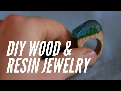 DIY Wood and Resin Jewelry