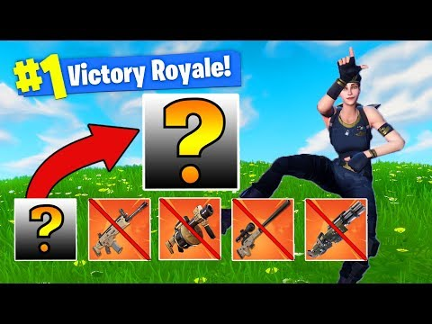 *WINNING* Fortnite With The WORST LOADOUT! [Challenge]