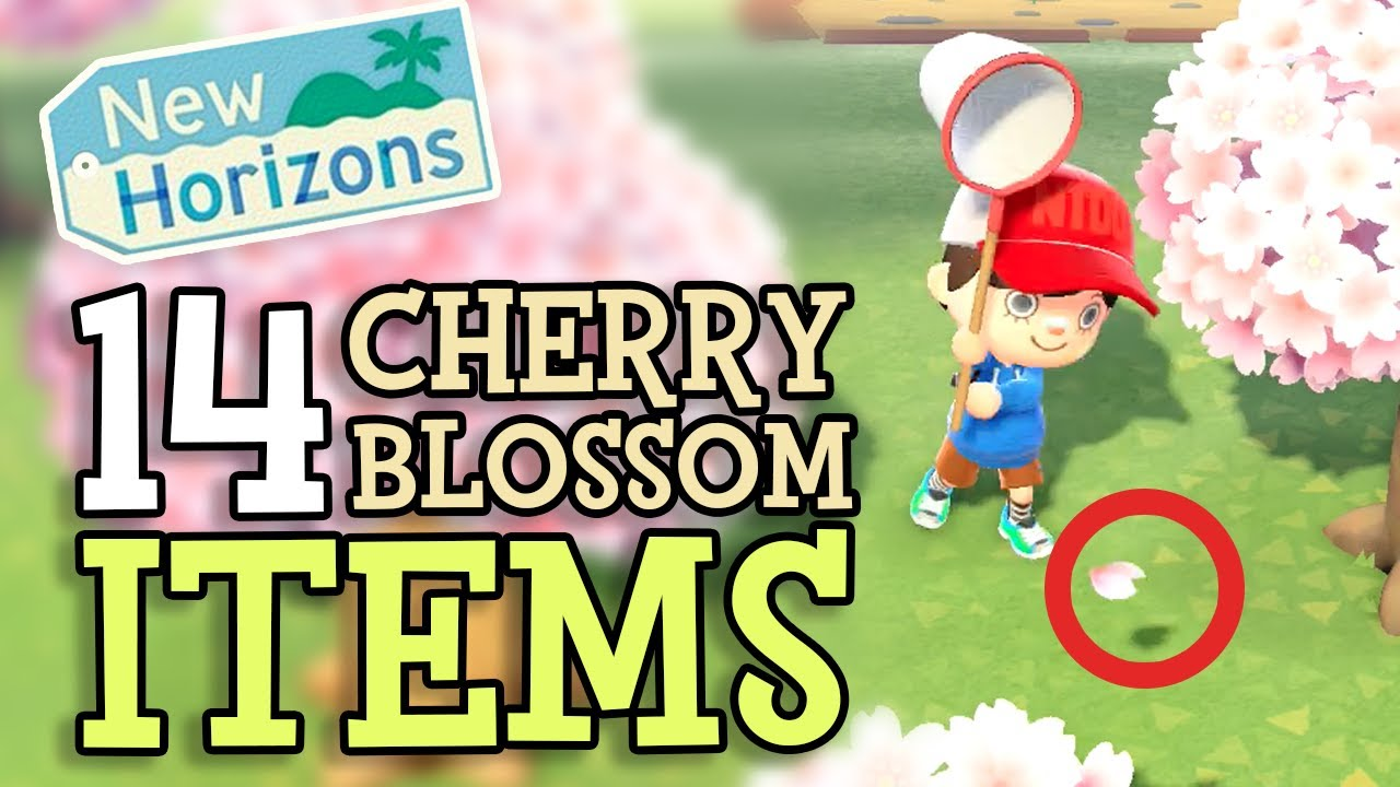How To Get Cherry Blossom Petals Fast Acnh Animal Crossing New Horizons Switch Game8