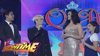 It's Showtime Miss Q & A: Vice Ganda pairs Miss Q & A Candidate no. 3 to a half German hottie