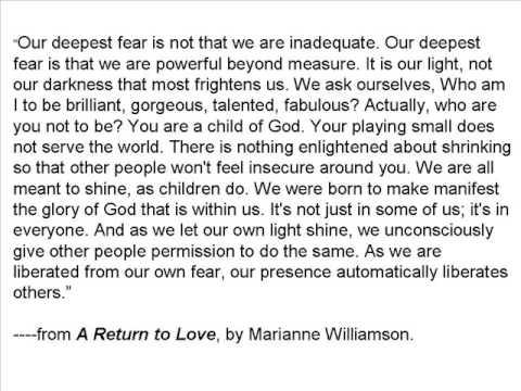 Marianne williamson poem