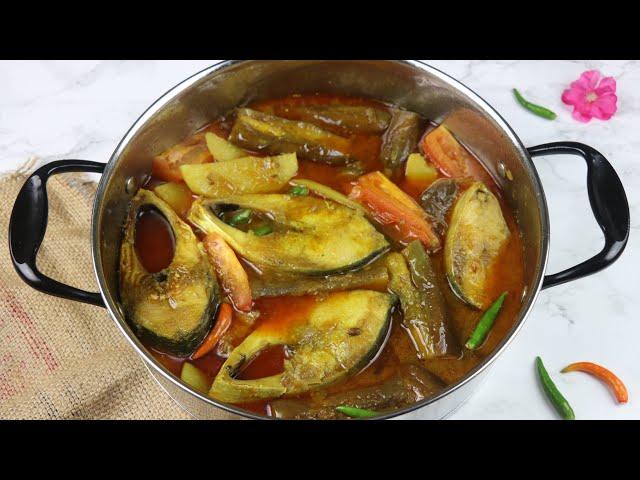 আলু বেগুন দিয়ে ইলিশ রেসিপি | Aloo Begun Ilish Jhol Recipe | Simple Hilsha Fish Recipe/Hilsha Recipe