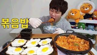 BJ꽃돼지 닭볶음탕볶음밥+계란후라이+돌김 먹방