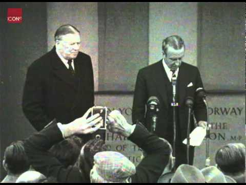Ernest Marples Opening Britains's first motorway