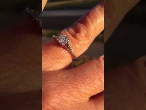 Enchanted Disney Belle 10k White Amp Rose Gold 1 5ct Diamond