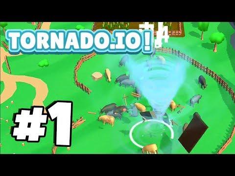 New *WORLDS MOST ADDICTIVE* .io Game! | TORNADO.IO! | Tornado.io Gameplay Part 1