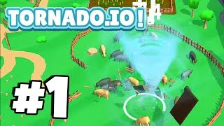 New *WORLDS MOST ADDICTIVE* .io Game! | TORNADO.IO! | Tornado.io Gameplay Part 1