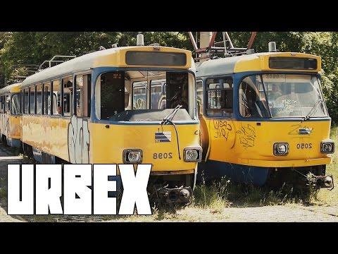 TRAM GRAVEYARD: Abandoned Trolley Streetcar Depot | Urbex #11