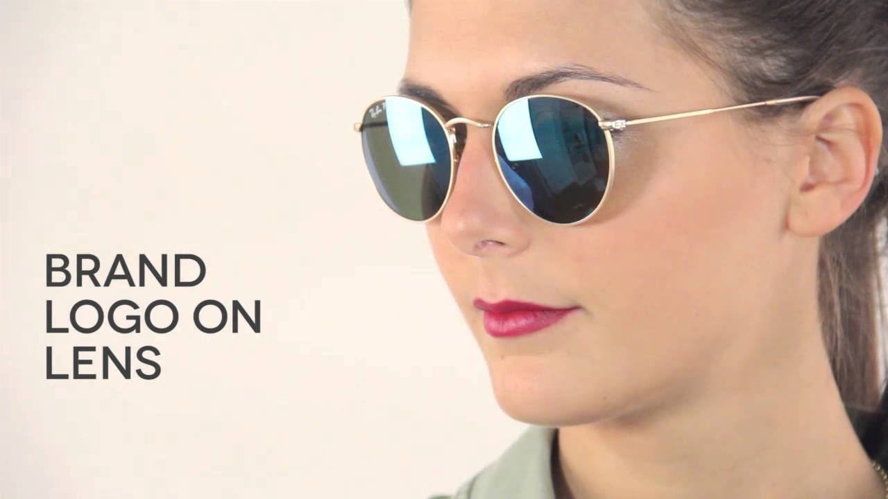 07722fd56 Ray-Ban RB3447 Round Flash Lenses Polarized Sunglasses Review |  SmartBuyGlasses - YouTube