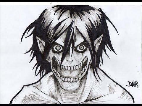Dibujando Drawing Eren Jaeger Titan Shingeki No Kyojin Youtube