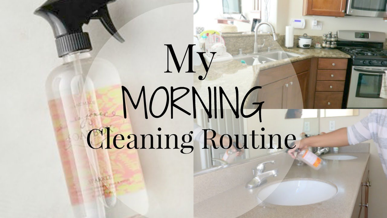 Morning Cleaning Routine! Stay-At-Home-Mom - YouTube