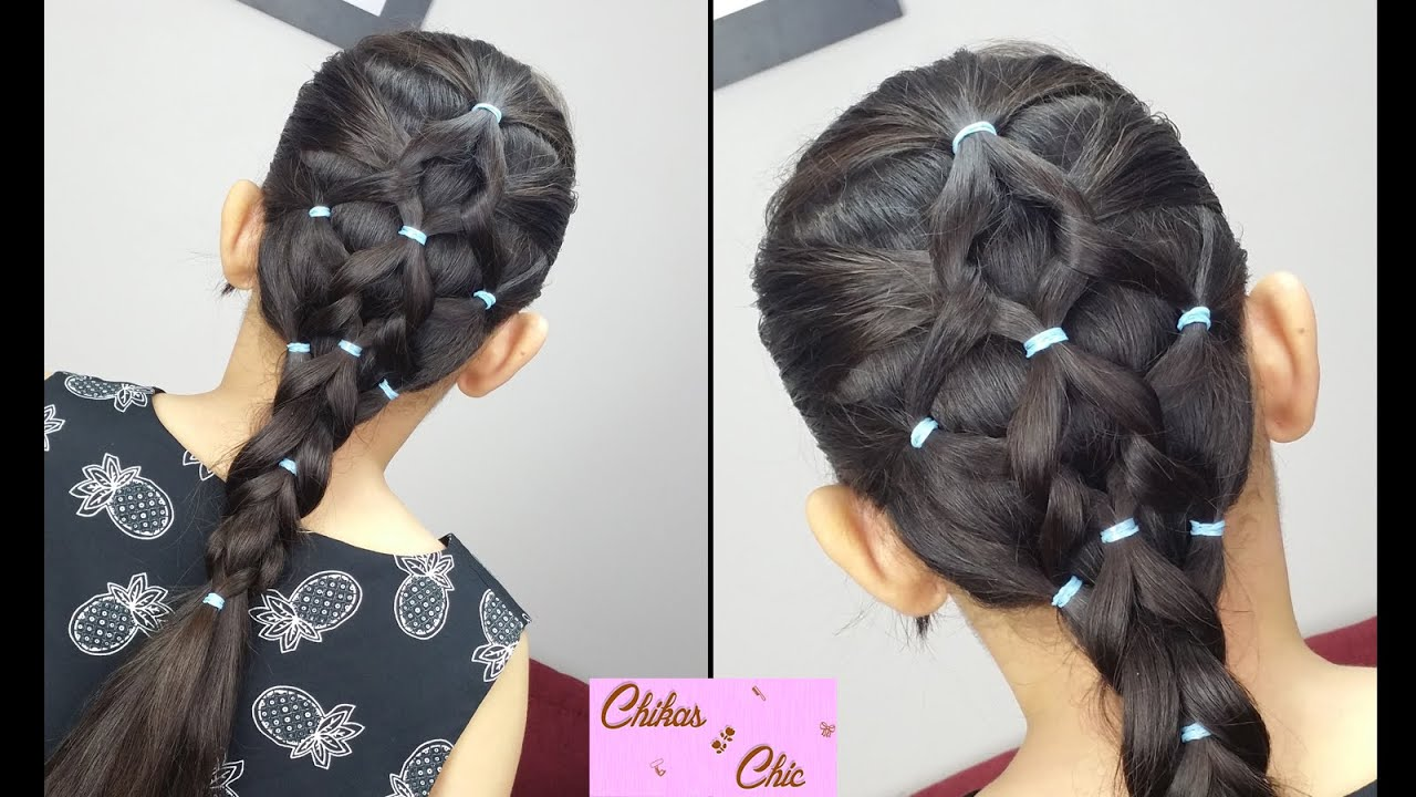 Popular hairstyles with elastic bands