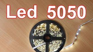 Светодиодная лента LED 5050 из Китая.(Посылка из Китая.Светодиодная лента на диодах 5050. Kitai Gadget https://goo.gl/JLRoP7 Покупал тут : Лента https://goo.gl/qdakPq блок..., 2016-04-27T01:41:57.000Z)