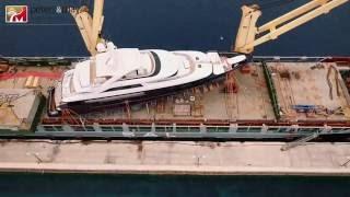 46m Sanlorenzo superyacht shipment - Genoa to Hong Kong Full Video