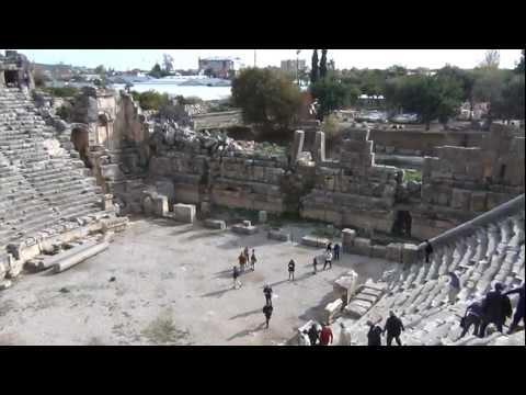 Amphitheater of Lost City Myra (Turkey)
