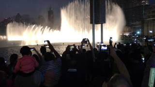 Dubai burj khalifa e fontane dicembre 2016