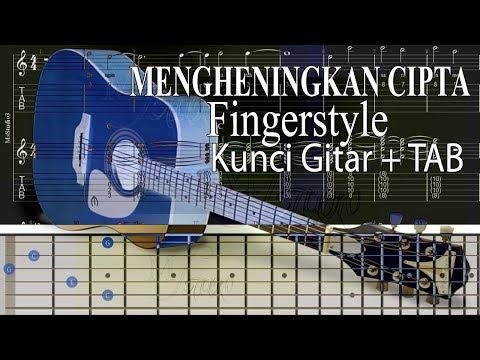 Tutorial Fingerstyle Kunci Gitar + TAB MENGHENINGKAN CIPTA | MsStudio3