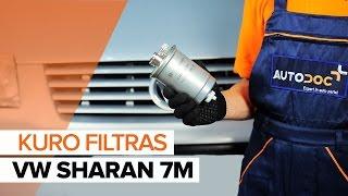 Kaip pakeisti Kuro filtras VW SHARAN 7M [PAMOKA]