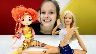 Школа гимнастики Барби - Мультик: Сборы кукол гимнасток.