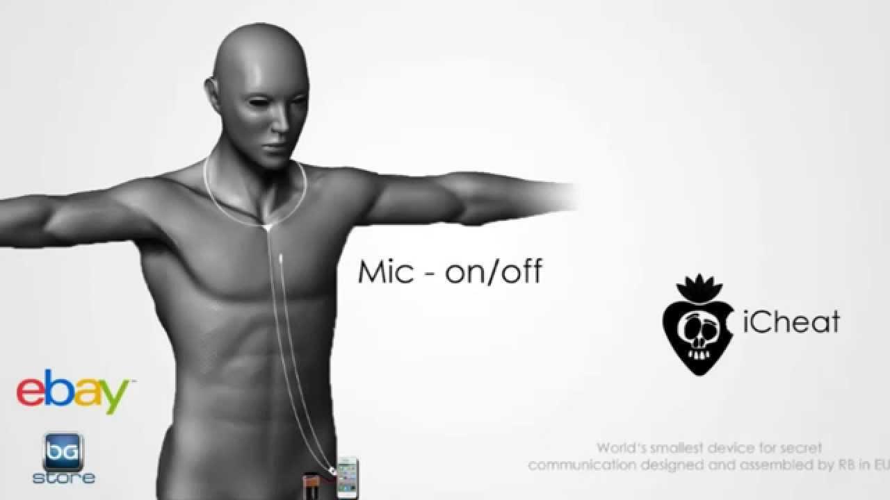 iCheat smallest invisible spy earpiece HQ ear bud mini