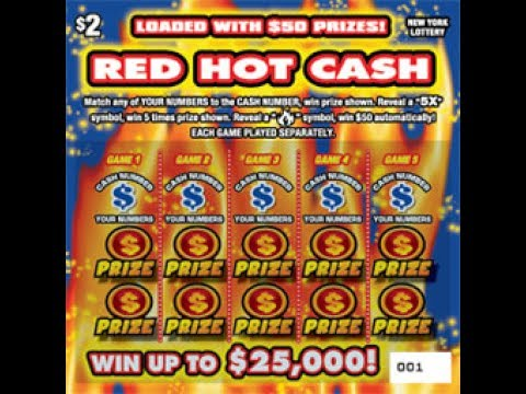 $2 RED HOT CASH- BRAND NEW!! Lottery Bengal Scratching Scratch Off instant  win tickets NEW!!