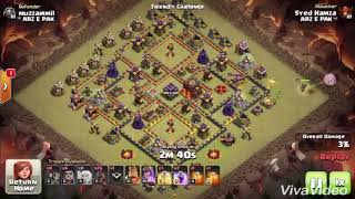 3 Stars War Attack Strategy for TH9 and TH10 using Queen Walk + Hogs, Clash of Clans