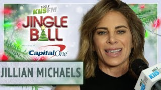 Jillian Michaels Shares Her Secrets To Being Fit At Jingle Ball Red Carpet