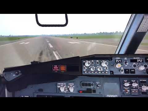 Crash boeing 737 Havana cockpitview, planecrash