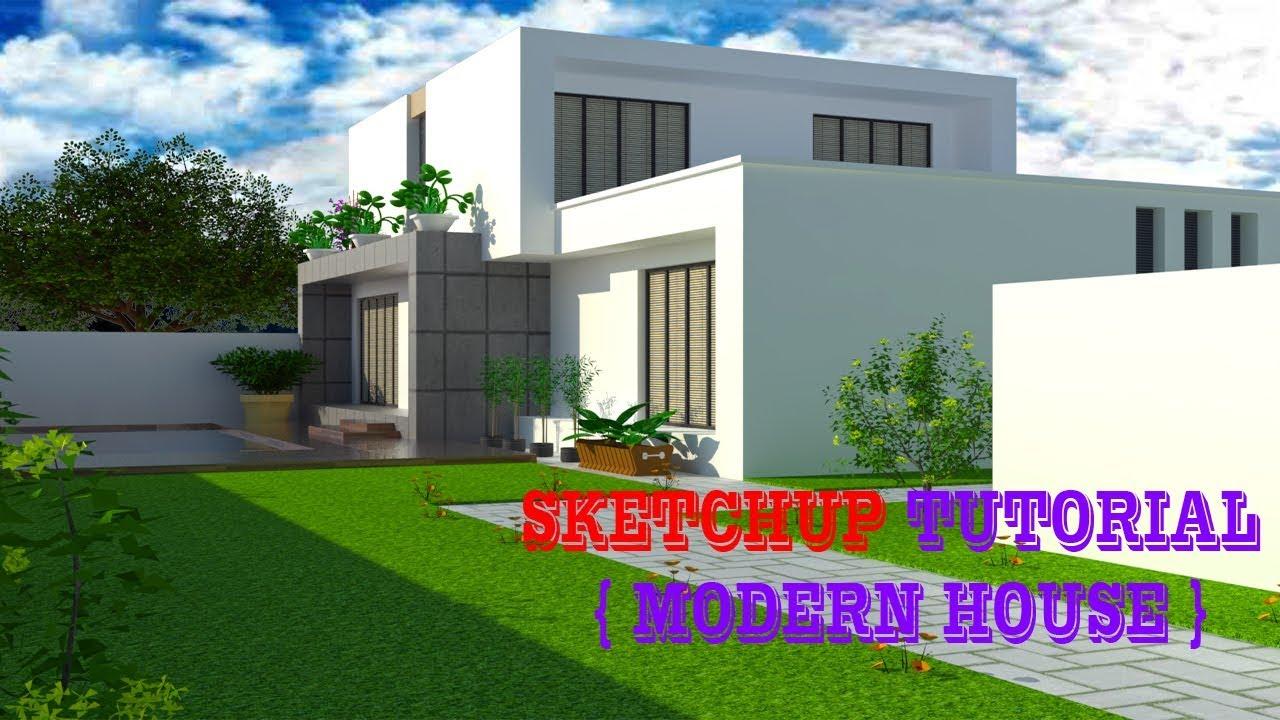 Sketchup modern house tutorial modern house tutorial google sketchup 2018