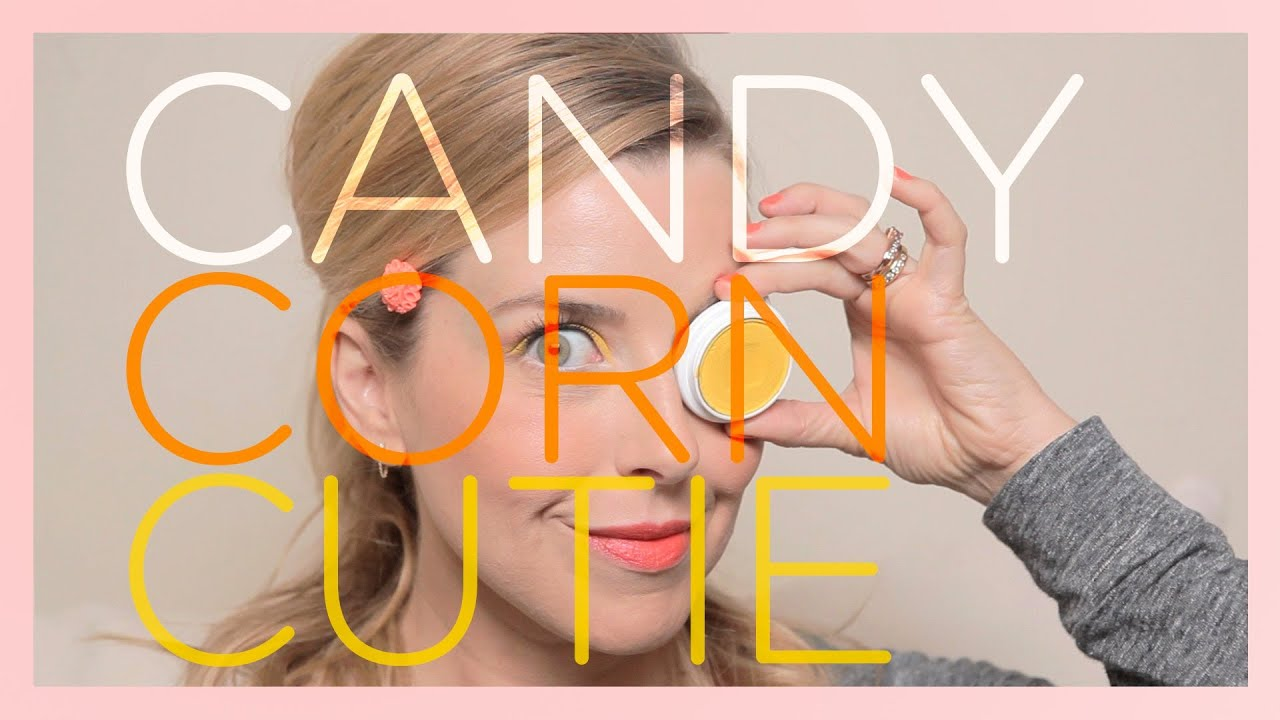 Candy Corn Cutie - Fun and Bright Makeup Tutorial - YouTube