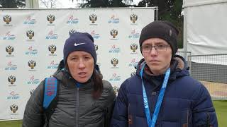 Тренер Екатерина Ежова и Владимир Коробов-2 место Первенства России-2019 Спортивная ходьба 10000 м