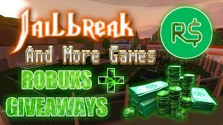 🔴|| ROBLOX|| Jailbreak&More Games+| ROBUXS GIVEAWAYS|#82🔴COME JOIN AND HAVE FUN!