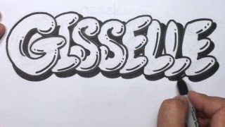 How to Draw Graffiti Letters Write Gisselle in Bubble Letters | MAT
