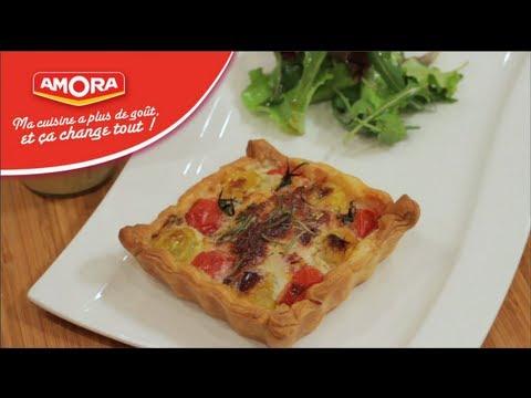 tarte-duo-à-la-tomate-revistée-au-crottin-de-chèvre-et-tomates-cerise---750g