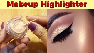 DIY Makeup Highlighter Cream at Home Easy Tutorial with Zainab Numan Urdu Hindi