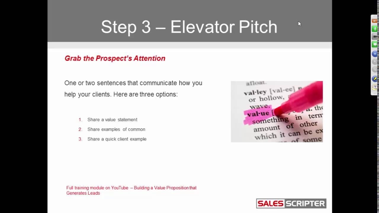 Deliver Your Elevator Pitch in the Beginning of Your Appointment Setting  Scripts