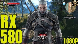 the Witcher 3 RX 580 Fps Performance Hairworks On & Off 1080P