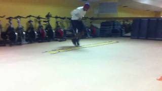 "Speed Agility Ladder Drill ""2 feet in 2 feet out, front foot lead"""