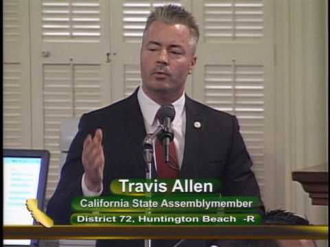 "California Assemblyman Travis Allen Asks: ""Where Does it End?"""