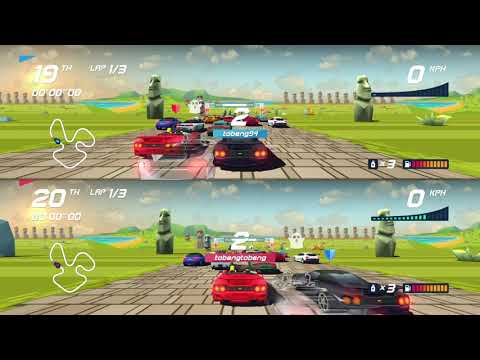 Local Multiplayer Split-Screen - Horizon Chase Turbo