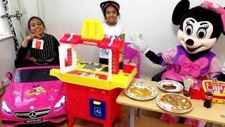 McDonald's Drive Thru Pretend Play Kids Kitchen Playset Minnie Mickey Mouse Compilation #2