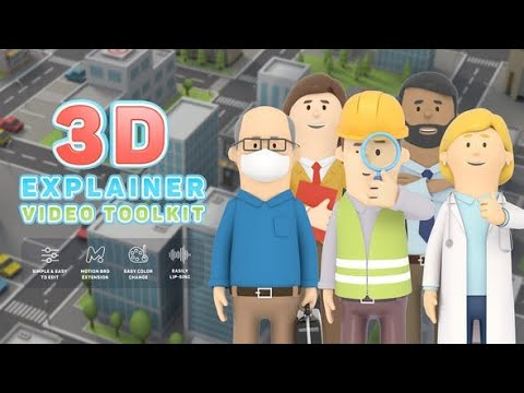3D Explainer Video Toolkit For Adobe After Effects