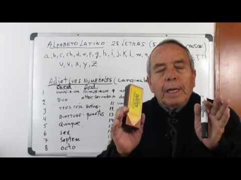 7ª sesión latin - Repaso del alfabeto y pronunciación