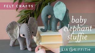 How to Sew an Adorable Elephant Using Felt