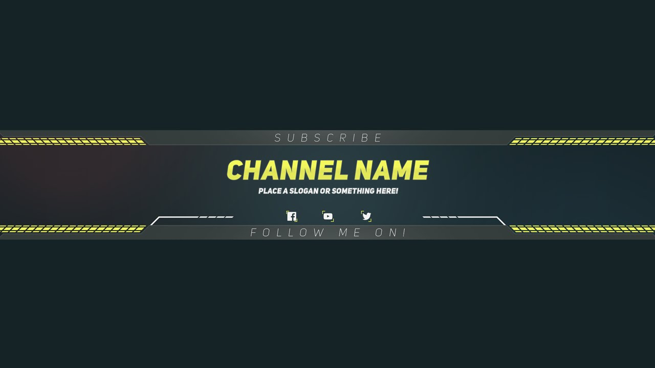PREMIUM Youtube BANNER Template - Photoshop Template - YouTube