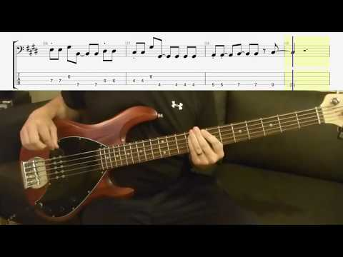 The Cars - Just What I Needed - Bass Cover - Scrolling Tabs Bass Lesson