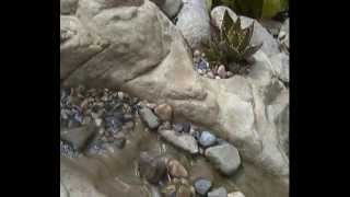 Fake rock (water feature / pond construction)