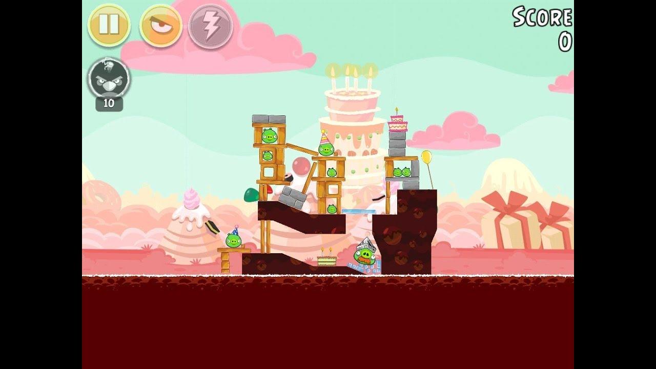 Angry Birds Birdday Party Cake 4 Level 1 Walkthrough 3