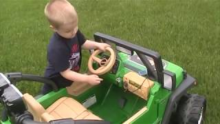 Enjoying the day in Power Wheels Jeep