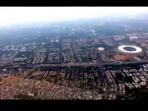 Plane landing at Chandigarh & New Delhi Airports